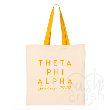 Theta Phi Alpha - Seniors 2020 Canvas Tote Bag