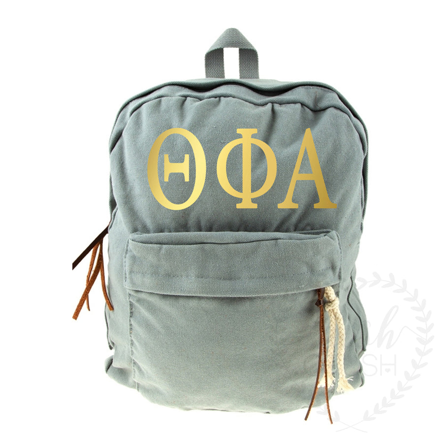 Sorority Canvas Backpack *available for multiple organizations*