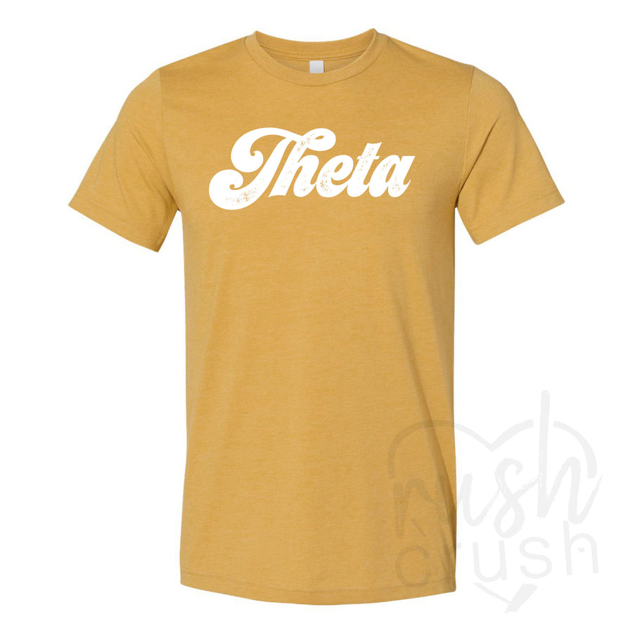 Kappa Alpha Theta - Seventies Distressed Lettering T-Shirt