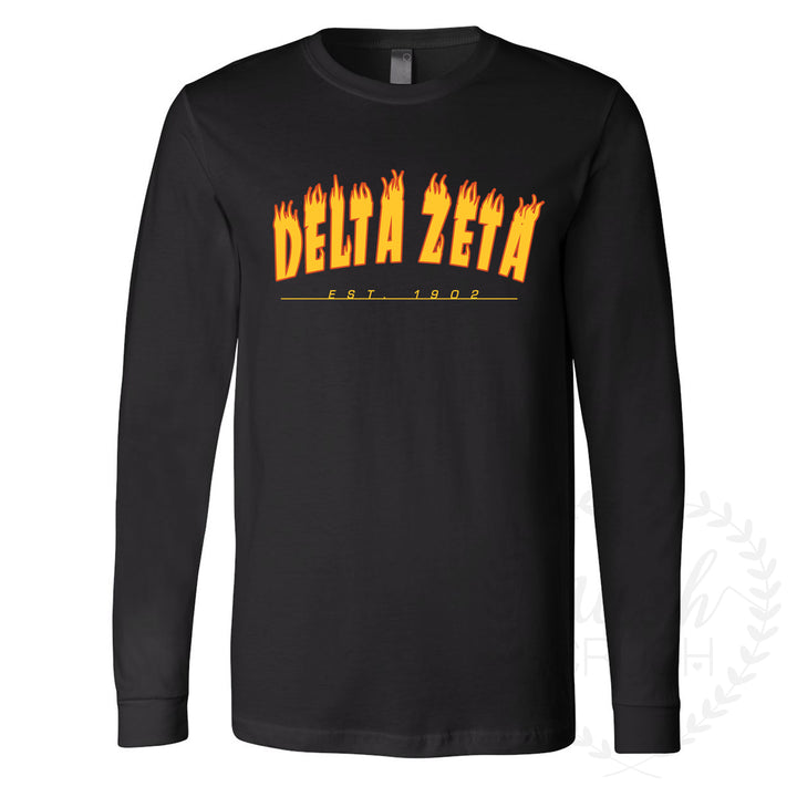 Delta Zeta Skate Long Sleeve Shirt
