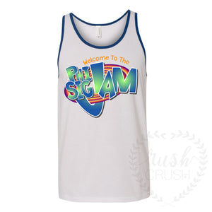 Welcome to the Phi Sig Jam, Space Jam Bid Day Tank Top