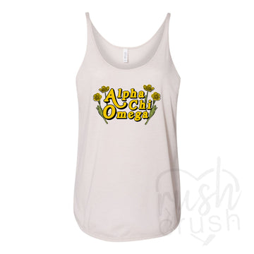 Alpha Chi Omega - Wildflower Nude Tank Top