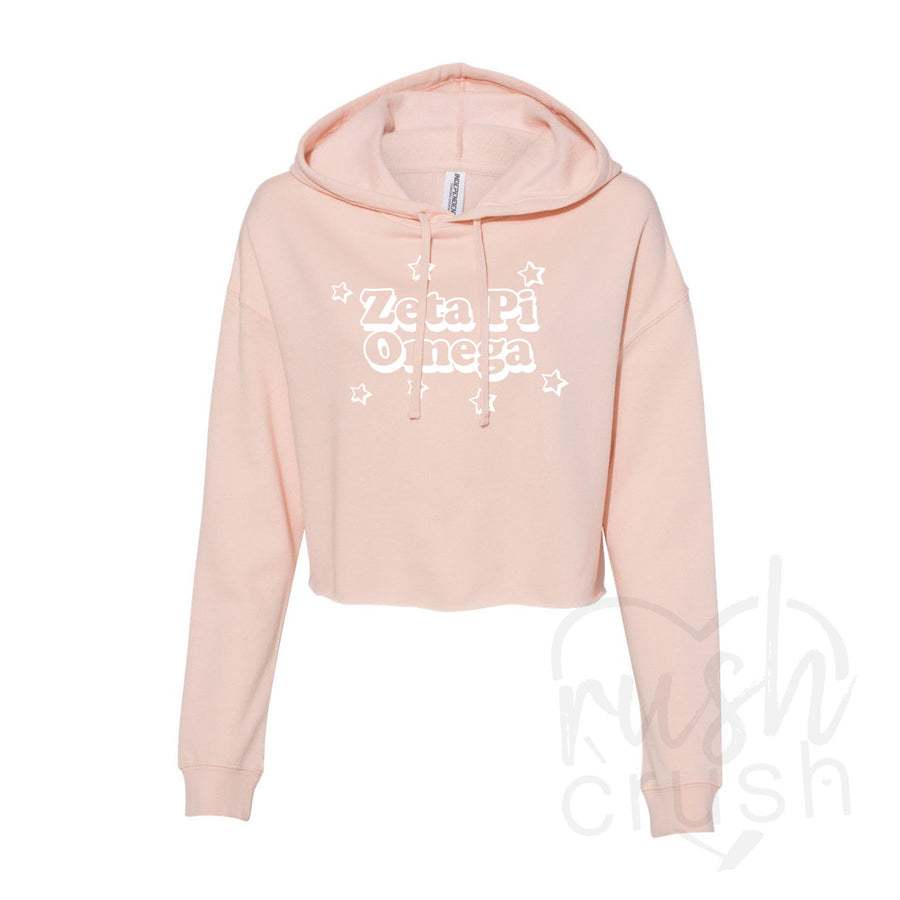 Zeta Pi Omega - Breast Cancer Awareness Fundraiser - Cropped Fleece Hoodie