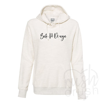 Zeta Pi Omega - French Terry Lace-Up Hoodie
