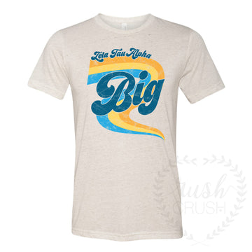 Zeta Tau Alpha Big Little GBig Retro 70s Shirts