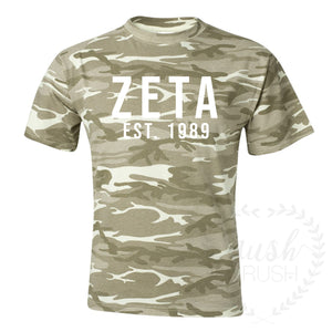 Zeta Established Camo Tee