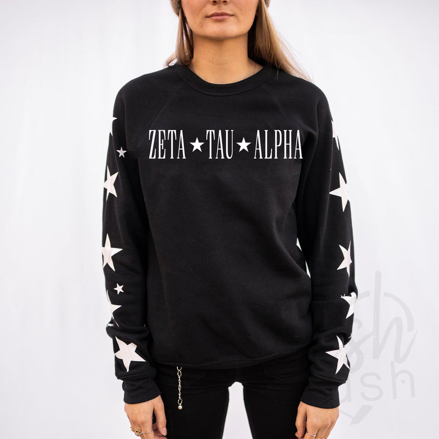Zeta Tau Alpha - Star Sorority Sleeve Sweatshirt