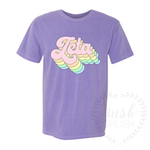 Sorority Retro Comfort Colors Shirt *Available for more organizations!