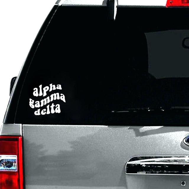 Groovy Sorority Vinyl Decal