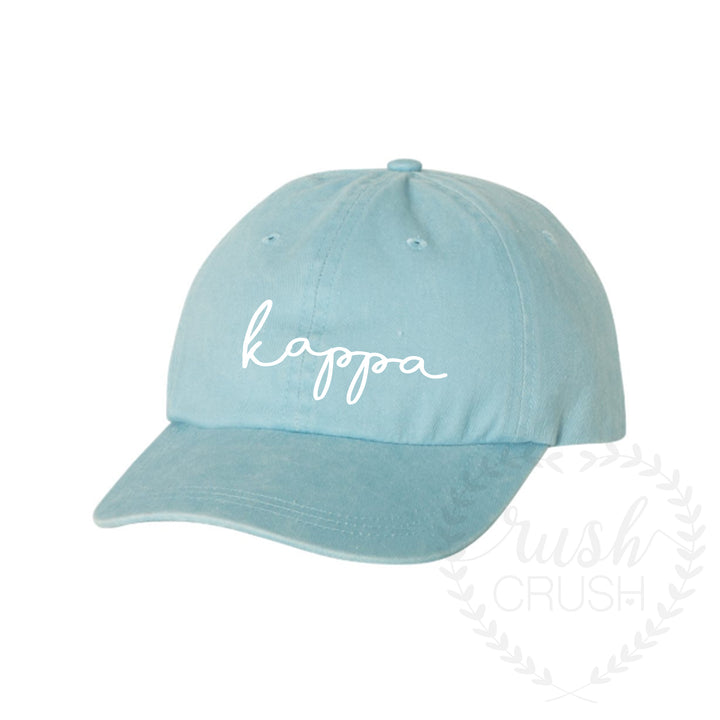 Sorority Hat Pigment Dyed Script Writing *Available for Multiple Organizations