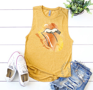 Retro Rainbow Tongue Festival Tank *Available For All Organizations!*