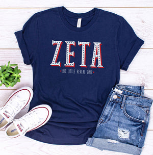 Zeta American Star Big Little Reveal Sorority Tee