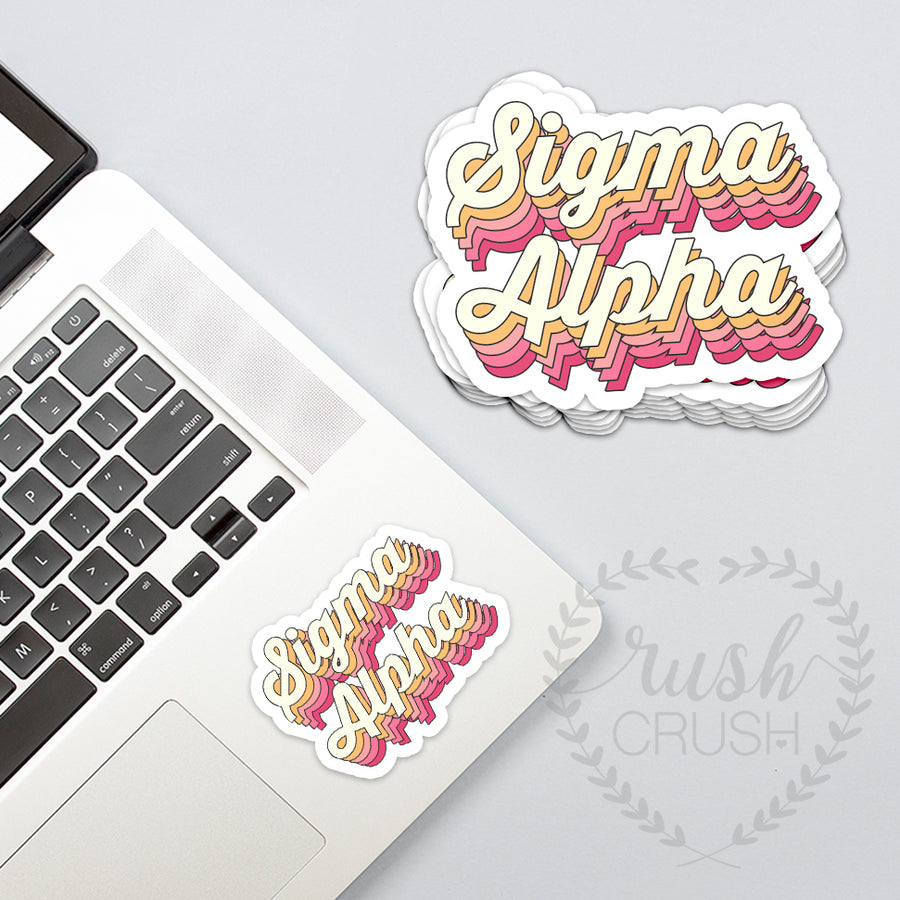 Sorority Retro Style Sticker