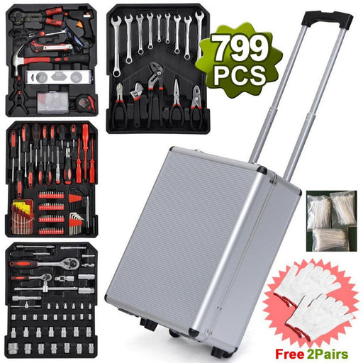 Father's Day Gift - 799-in-1 Aluminum Trolley Case Tool Set