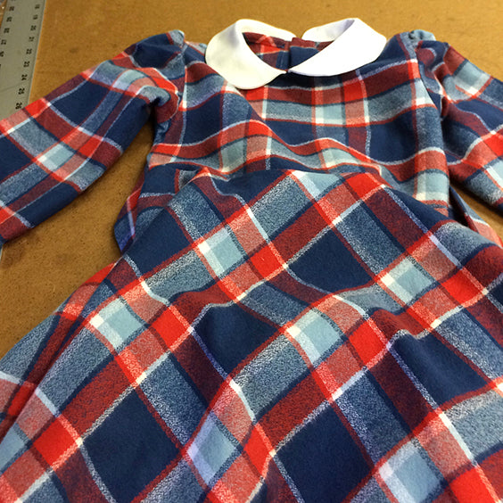 Classic Girl plaid flannel dress for little girls