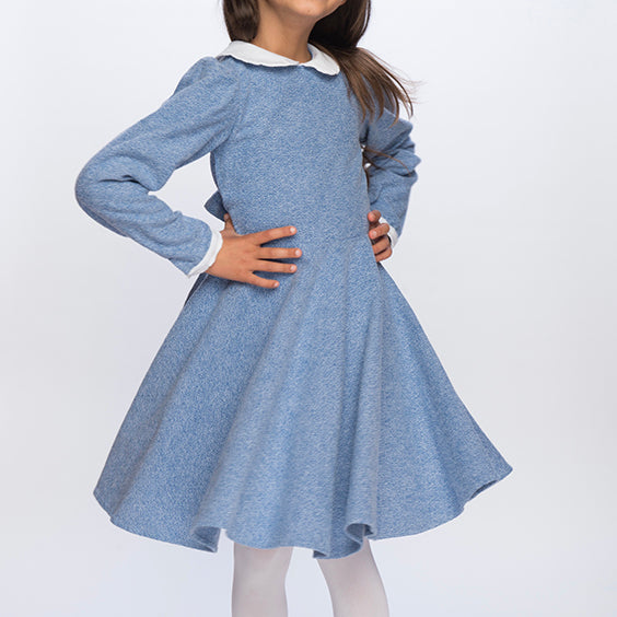 Classic Girl Clothing blue winter dress for little girls