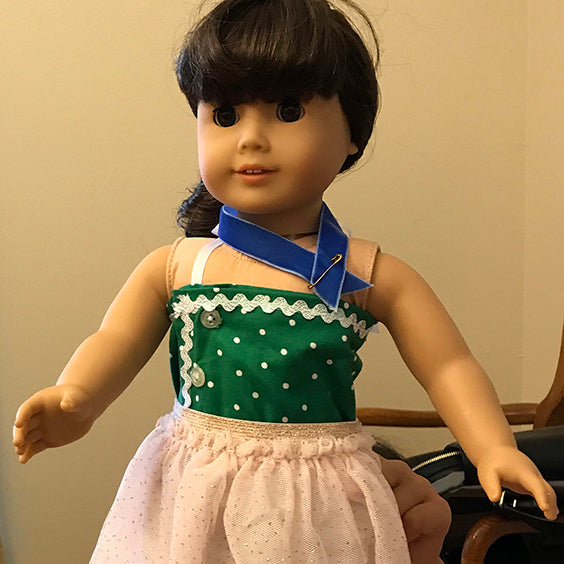 American Girl Doll in a homemade outfit