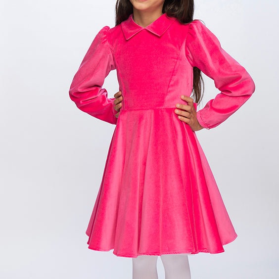 Classic Girl Clothing pink velvet party dress