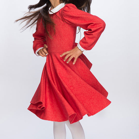 Classic Girl Clothing winter red flannel dress
