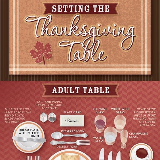 Thanks Giving table setting