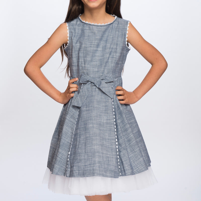 Classic Girl Clothing spring and summer blue dresses