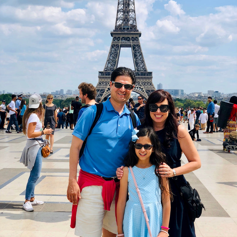 Founder of CGC on vacation with her family in Paris