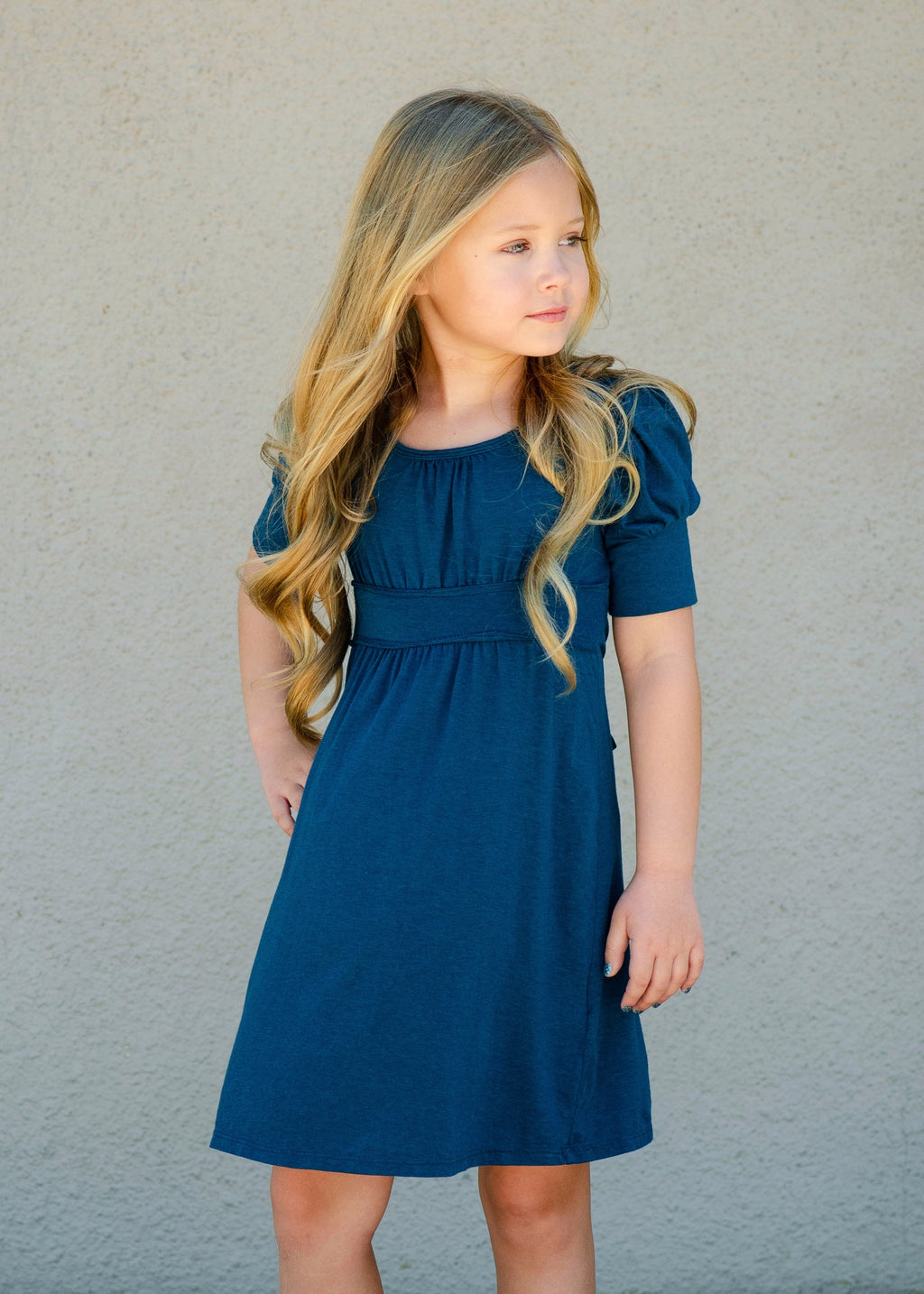 Gigi Midi Dress in Teal