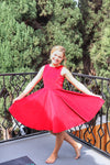Special Occasion Velvet Dress in Red