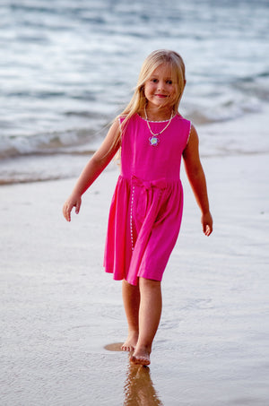 Walk on the Beach in Pink