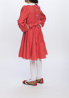 Girl Dress, Winter School Days in Red