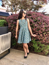 Jackie Dress in Blue Flowers