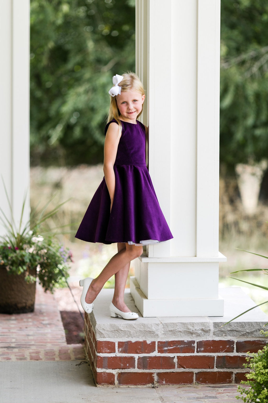 Special Occasion Dress in Purple Velvet