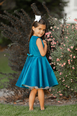 Special Occasion Velvet Dress in Blue