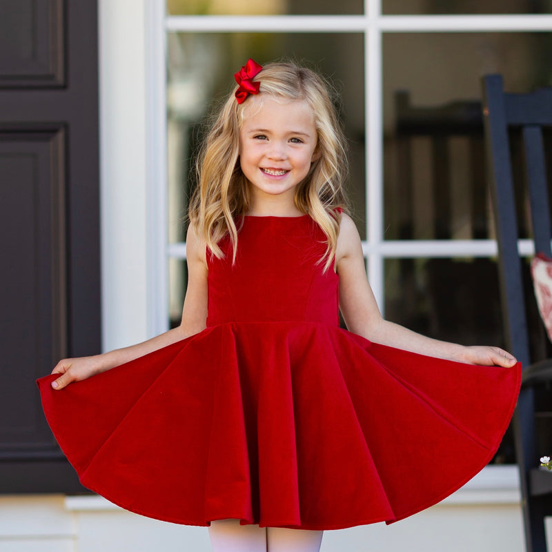 Special Occasion Dress 2.0 in Red Velvet