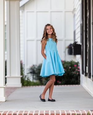 Caroline Dress in Turquoise
