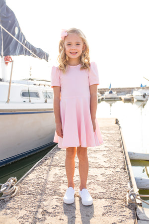 Alexis Short Sleeve T-Shirt Dress in Pink