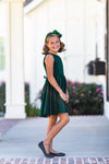 Special Occasion Dress 2.0 in Green Velvet