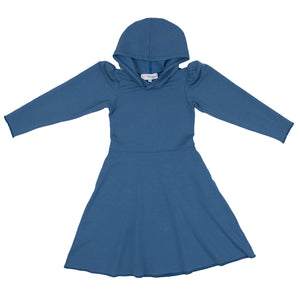 Piper Hoodie Dress in Blue