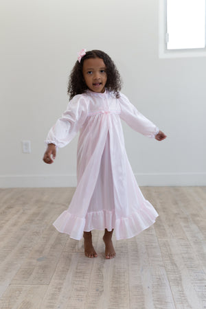 Clara Nightgown Peignoir Set in Pink