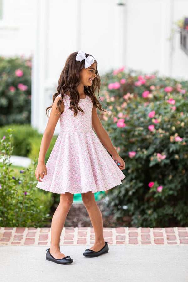 Jackie Dress in Pink Flowers
