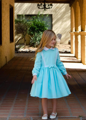 Payton Dress in Blue Classic Girl Clothing