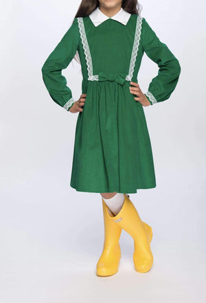 Payton Dress in Green Classic Girl Clothing