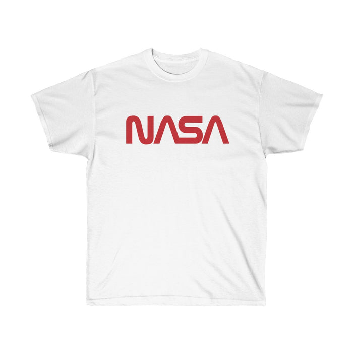 "Vintage NASA ""Worm"" Logo Men's Short Sleeve T-shirt (White)"