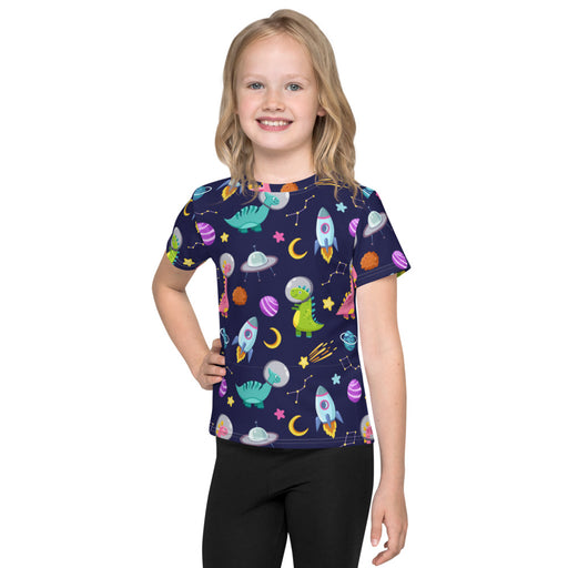 Dinosaur Astronauts All Over Seamless Pattern Kids T-Shirt