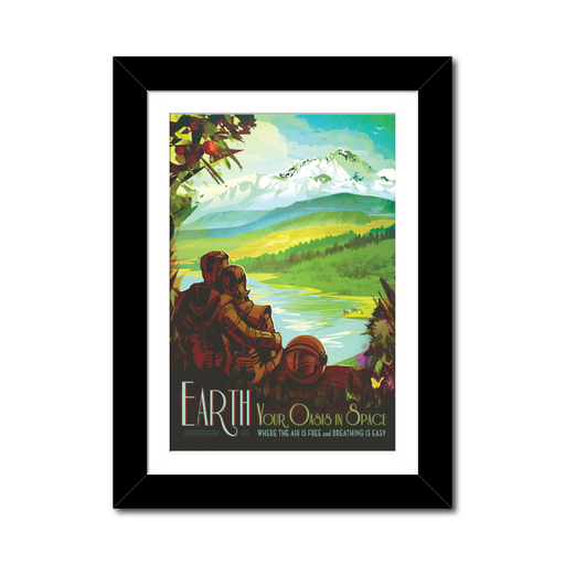 "NASA Travel Posters - ""Earth, Your Oasis in Space"""