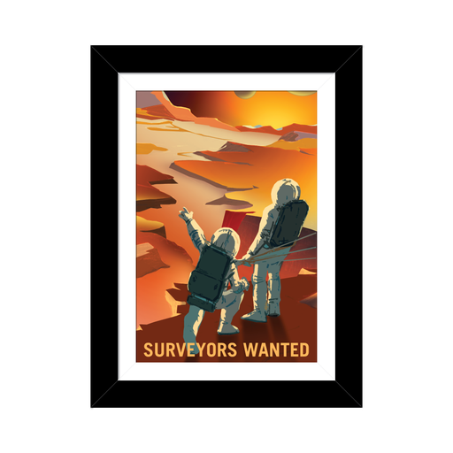 "NASA Mars Recruitment Poster - ""Surveyors Wanted"""