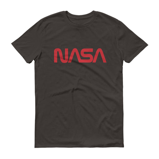 "NASA ""Worm"" Logo Men's Short Sleeve T-shirt (Smoke)"
