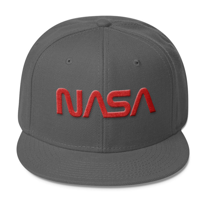 "NASA ""Worm"" Logo - Wool Blend Snapback Hat"