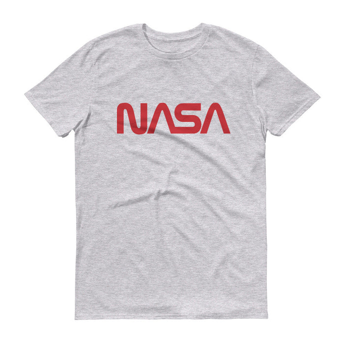 "NASA ""Worm"" Logo Men's Short Sleeve T-shirt (Heather Grey)"