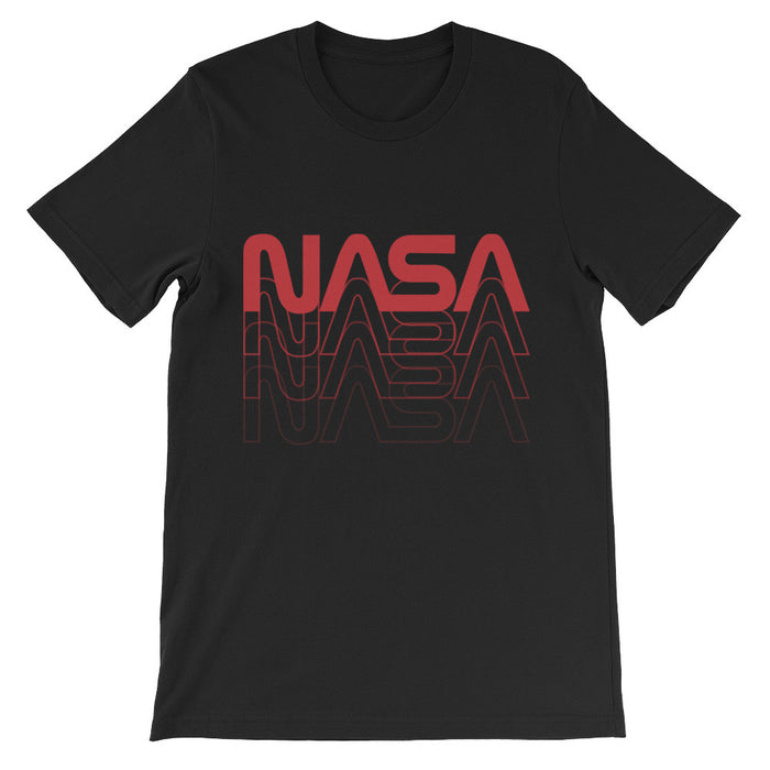 "Vintage NASA ""Worm"" Logo 80's Retro Tee (Black/Red)"